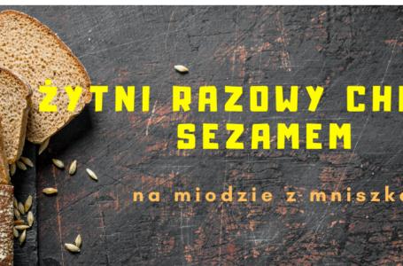 Chleb żytni razowy z sezamem na miodzie z mniszka – Łatwy przepis na chleba